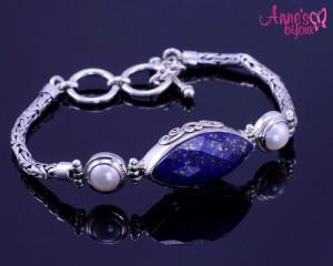 bratara din argint Annesbijoux lapis lazuli cu perla.jg