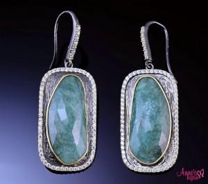 cercei din argint cu safir verde annesbijoux.jp2g